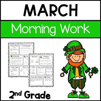 Common Core Math and Language Arts Daily Practice for Second Grade (March)