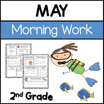 Common Core Math and Language Arts Daily Practice for Second Grade (May)