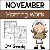 Common Core Math and Language Arts Daily Practice for Second Grade (November)
