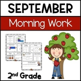 Common Core Math and Language Arts Daily Practice for Second Grade (September)
