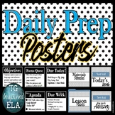Daily Prep EDITABLE Posters -- Objective - Agenda - Due Re