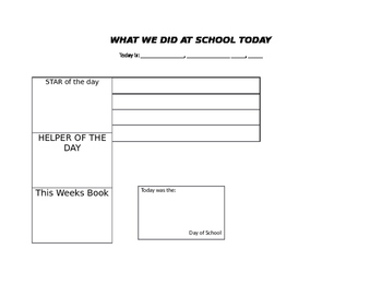 Daily Preschool Note