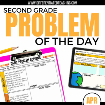 Daily Problem Solving for 2nd Grade: April Word Problems