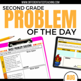 Daily Problem Solving for 2nd Grade: August Word Problems