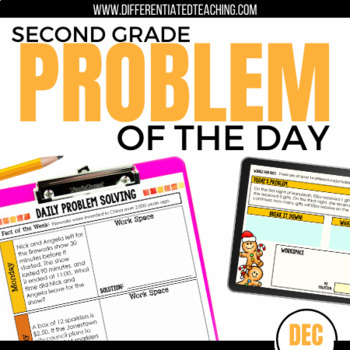 Daily Problem Solving for 2nd Grade: December Word Problems