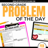 Daily Problem Solving for 2nd Grade: February Word Problems