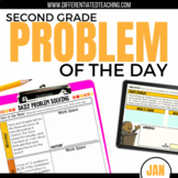Daily Problem Solving for 2nd Grade: January Word Problems