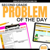 Daily Problem Solving for 2nd Grade: March Word Problems