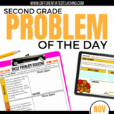 Daily Problem Solving for 2nd Grade: November Word Problems