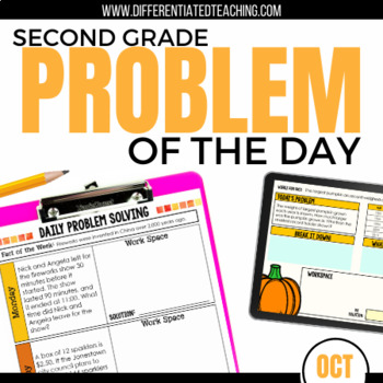 Daily Problem Solving for 2nd Grade: October Word Problems