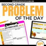 Daily Problem Solving for 2nd Grade: September Word Problems