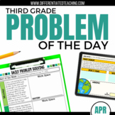 Daily Problem Solving for 3rd Grade: April Word Problems