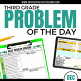 Daily Problem Solving for 3rd Grade: December Word Problems