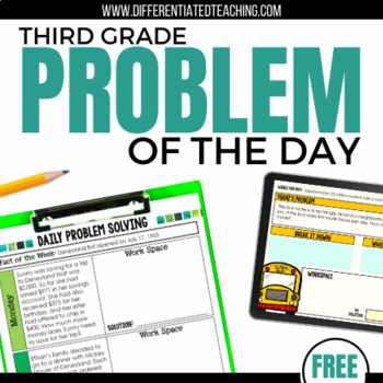 Daily Problem Solving for 3rd Grade: FREE SAMPLE