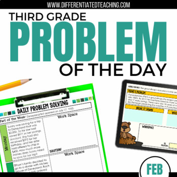 Daily Problem Solving for 3rd Grade: February Word Problems