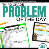 Daily Problem Solving for 3rd Grade: January Word Problems