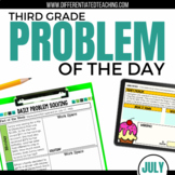 Daily Problem Solving for 3rd Grade: July Word Problems