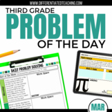 Daily Problem Solving for 3rd Grade: March Word Problems