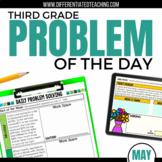 Daily Problem Solving for 3rd Grade: May Word Problems