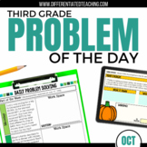 Daily Problem Solving for 3rd Grade: October Word Problems