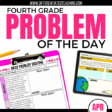 Daily Problem Solving for 4th Grade: April Word Problems