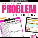 Daily Problem Solving for 4th Grade: July Word Problems
