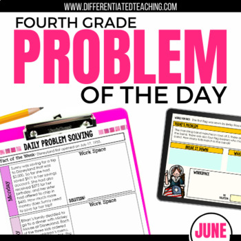 Daily Problem Solving for 4th Grade: June Word Problems