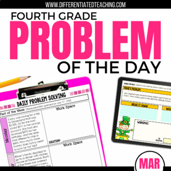 Daily Problem Solving for 4th Grade: March Word Problems