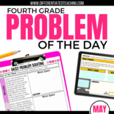 Daily Problem Solving for 4th Grade: May Word Problems