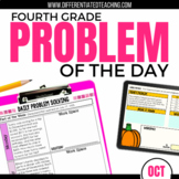 Daily Problem Solving for 4th Grade: October Word Problems