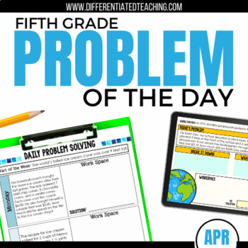 Daily Problem Solving for 5th Grade: April Word Problems