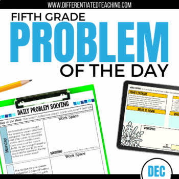 Daily Problem Solving for 5th Grade: December Word Problems