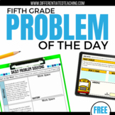 Daily Problem Solving for 5th Grade: FREE SAMPLE