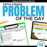 Daily Problem Solving for 5th Grade: February  Word Problems