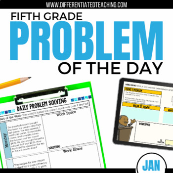 Daily Problem Solving for 5th Grade: January Word Problems