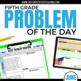 Daily Problem Solving for 5th Grade: June Word Problems
