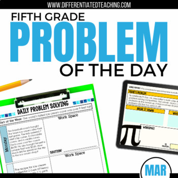 Daily Problem Solving for 5th Grade: March Word Problems