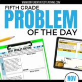 Daily Problem Solving for 5th Grade: November Word Problems