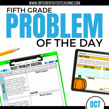 Daily Problem Solving for 5th Grade: October Word Problems