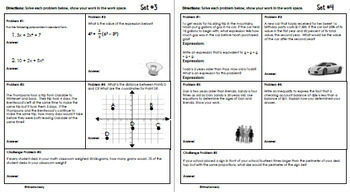 6th Grade February Daily Problem Solving: Math Challenge Problems (Multi-Step)