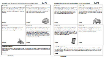 6th Grade Daily Problem Solving: March Math Challenge Problems (Multi-Step)