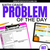 Daily Problem Solving for 6th Grade: October Word Problems