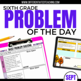 Daily Problem Solving for 6th Grade: September Word Problems