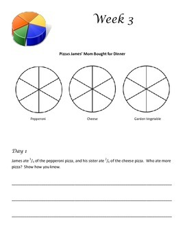 Daily Problem Solving for Third Grade (12 weeks) - Common Core Aligned