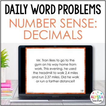 Daily Math Review: Decimals Number Sense (Place Value, Comparing, Rounding)