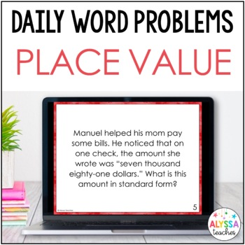 Daily Problems: Place Value, Comparing & Rounding Whole Numbers