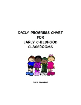 Daily Progress Chart for Early Childhood Classrooms