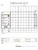 Daily Progress Report - Behavior Sheet