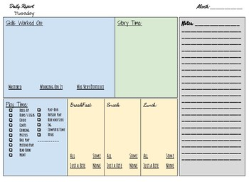 Daily Progress Sheets