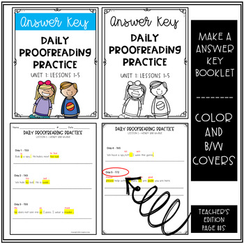 Daily Proofreading Practice - Aligns w/ Gr.2 Houghton Mifflin Journeys: Unit 1